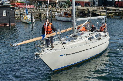 Ny mast til S5 Sundet sejlet til Svanemøllehavnen